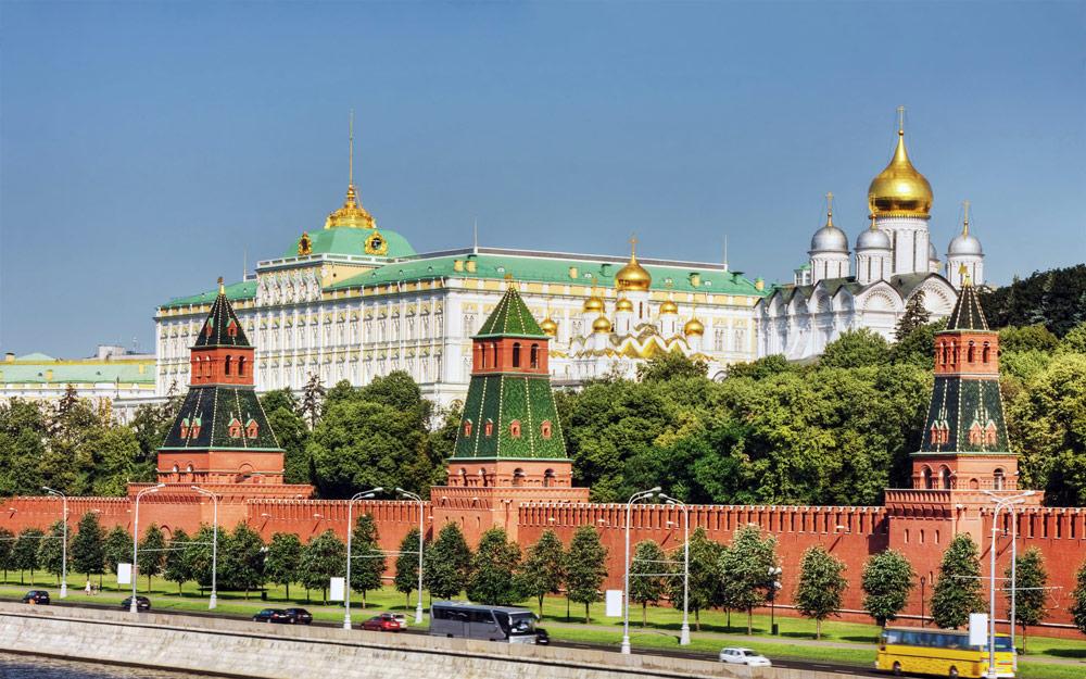 نمای کرملین از سمت رودخانه مسکو