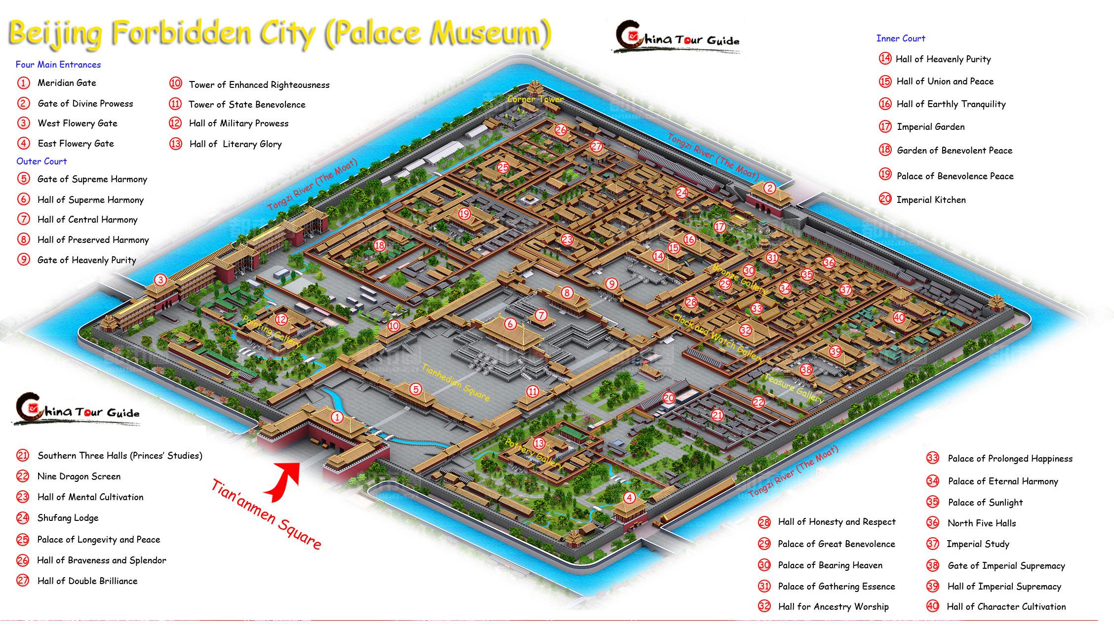نقشه شهر ممنوعه چین
