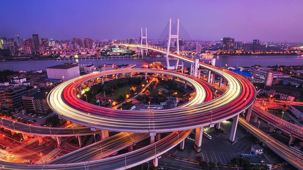 نمای از بالای شهر شانگهای
