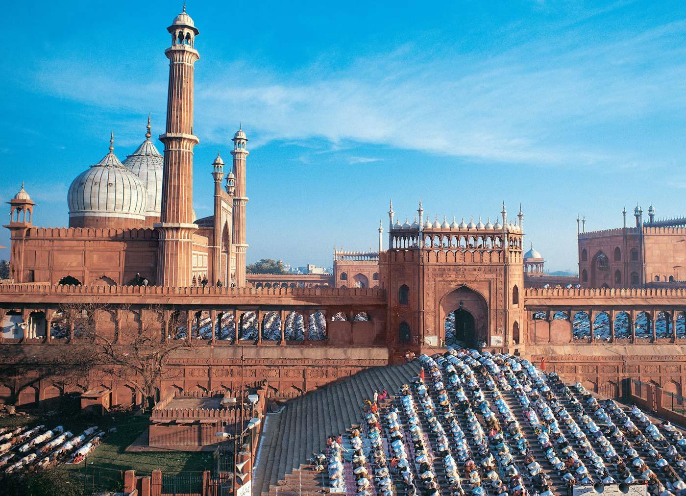 مسجد جامع دهلی هند