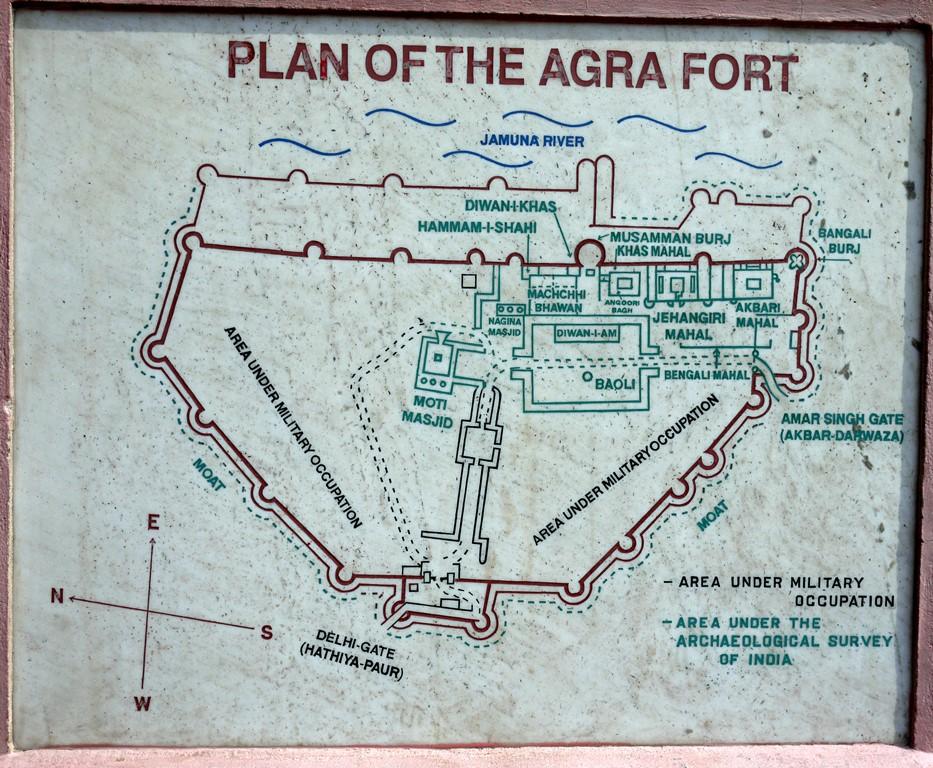 پلن قلعه آگرا هند