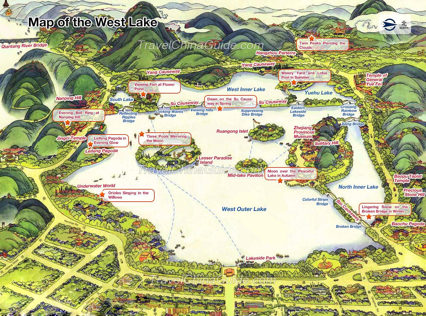 دریاچه غرب هانگزو چین