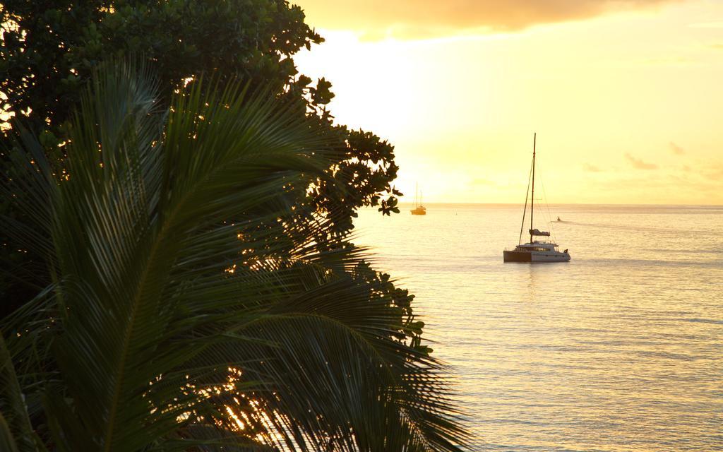 غروب آفتاب ساحل زیبای سیشل