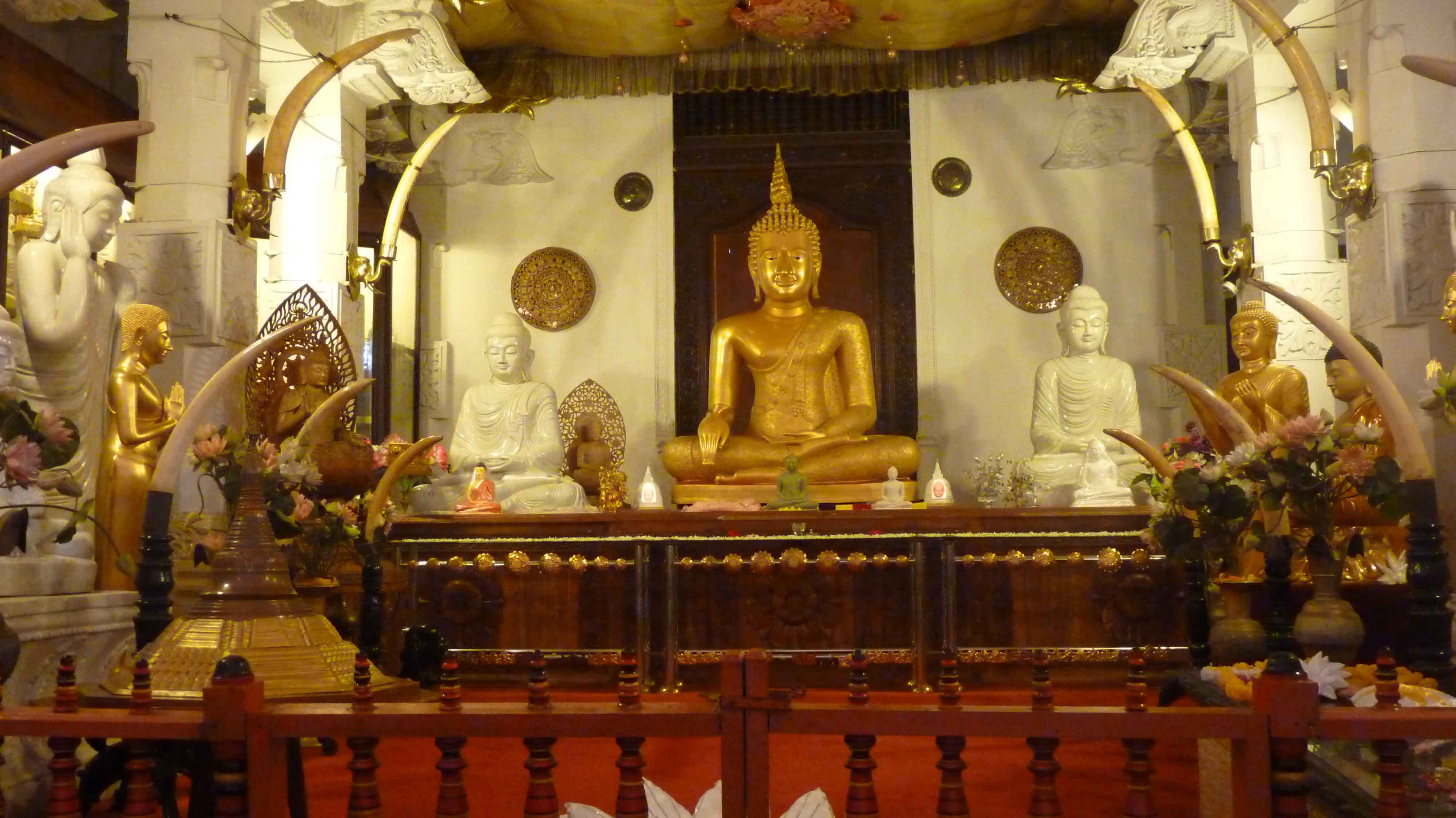 فضای داخلی معبد مقدس دندان بودا