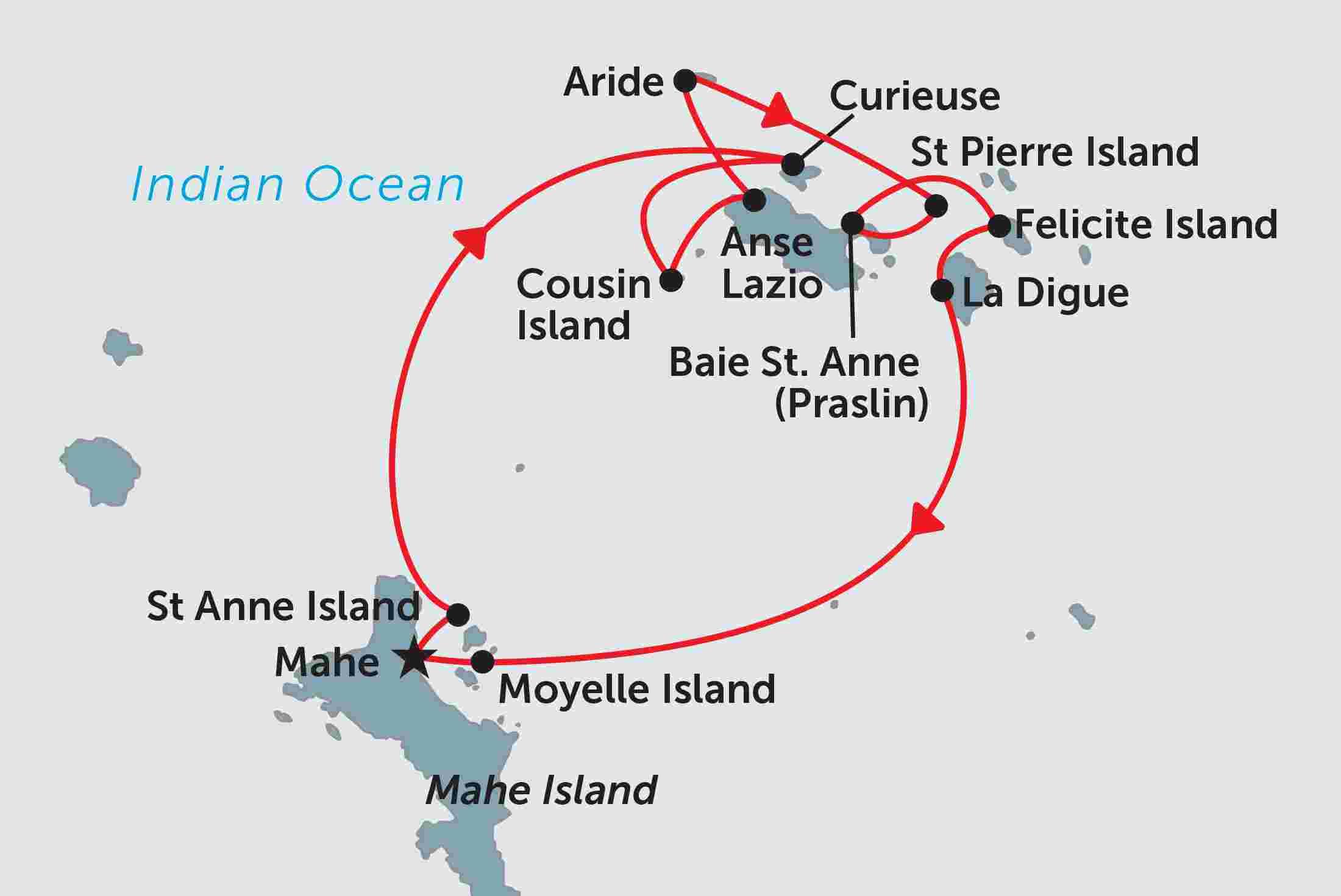 نقشه مسیرهای متعدد کشتی های کاتاماران