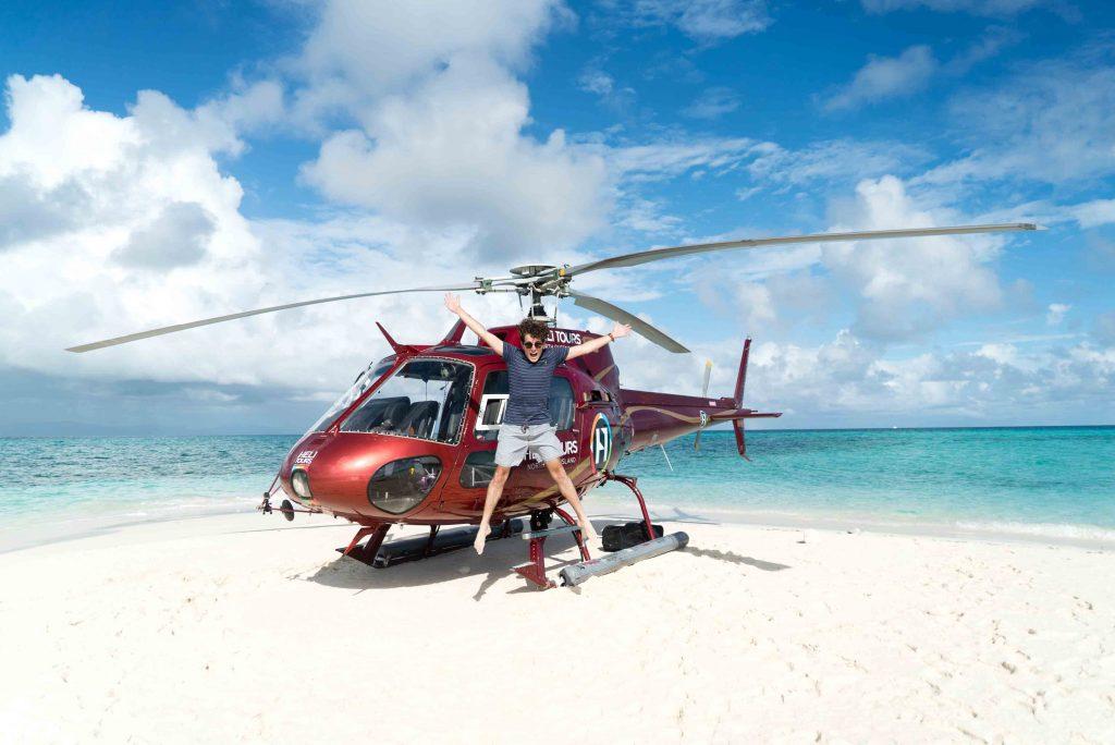 گشت هلی کوپتر در مالدیو