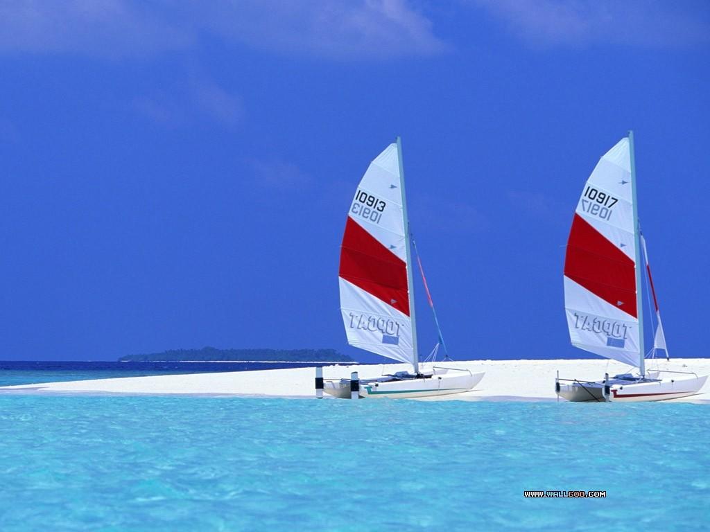 قایق های بادبانی در مالدیو